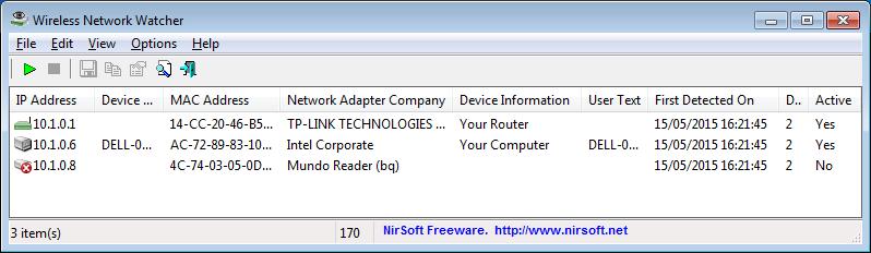 Wireless Network Whatcher