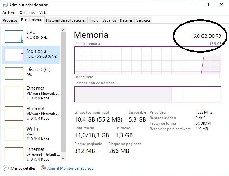 Cómo saber si mis memorias son DDR2, DDR3 o DDR4 sin tener que desarmar el PC.