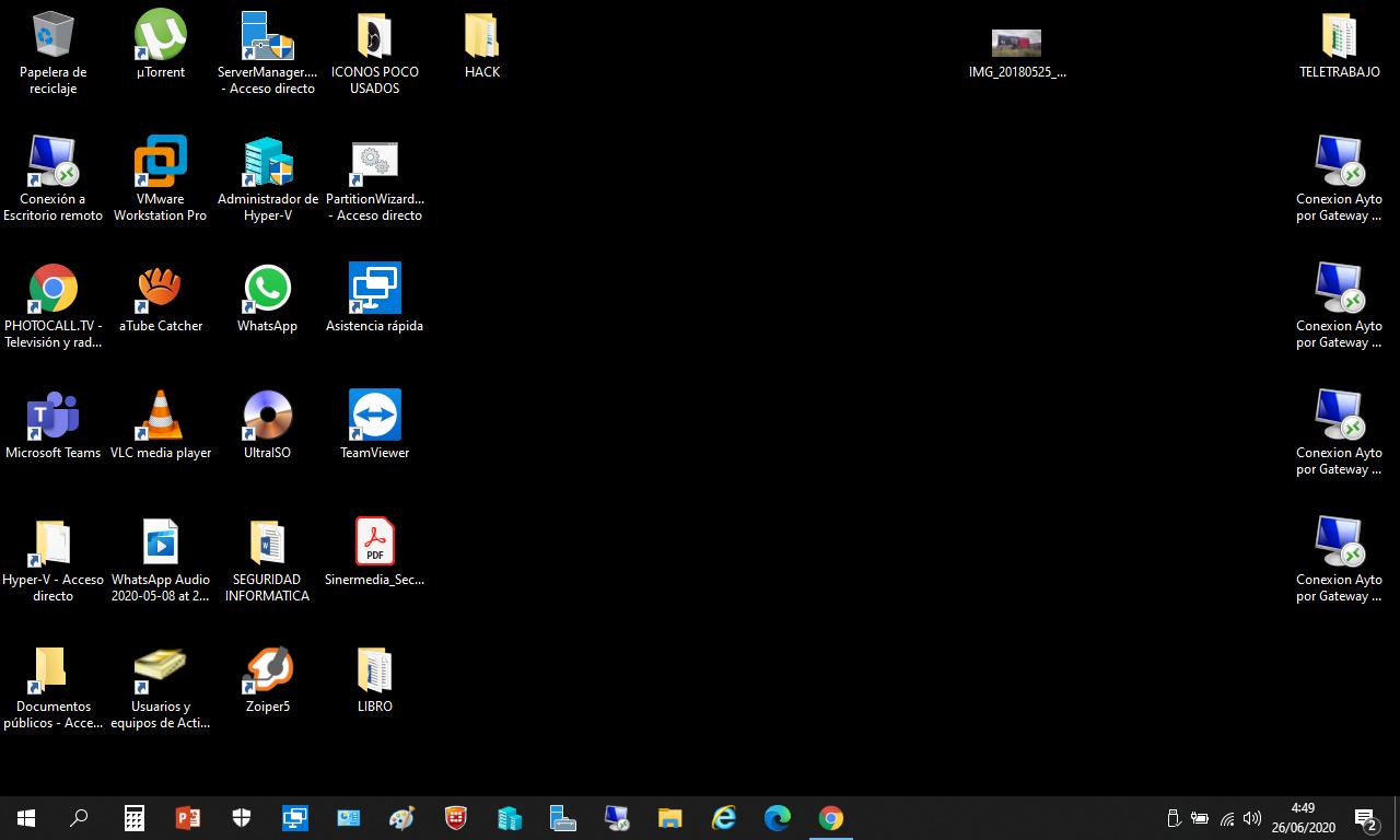 Broma del pantallazo de escritorio.